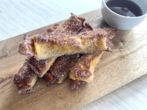 French Toast Bacon Rolls